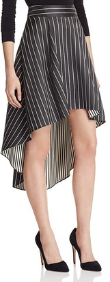 Alice + Olivia Katia High/Low Striped Skirt $295 thestylecure.com