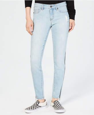 Dollhouse Juniors' Ripped Side-Zipper Skinny Jeans