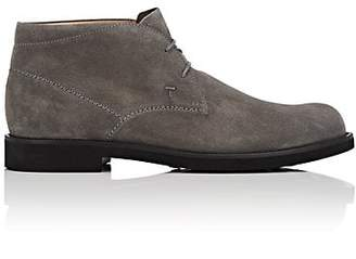 Tod's MEN'S SUEDE CHUKKA BOOTS - GRAY SIZE 6 M