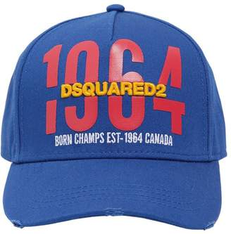 DSQUARED2 1964 Printed & Embroidered Canvas Hat