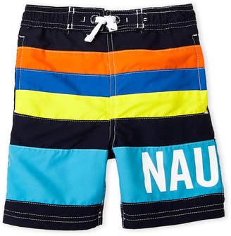Nautica Toddler Boys) Stripe Color Block Boart Shorts