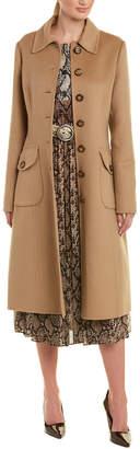 Michael Kors Wool & Angora-Blend Trench Coat