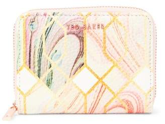 Ted Baker Eleena Sea of Clouds Small Leather Zip Purse
