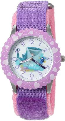 Disney Girl's 'Finding Dory' Quartz Stainless Steel and Nylon Automatic Watch, Color: (Model: W003103)
