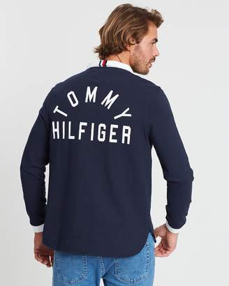 Tommy Hilfiger Relaxed Back Logo Rugby Polo