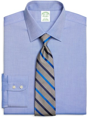 Brooks Brothers Milano Slim-Fit Dress Shirt, Non-Iron Royal Oxford