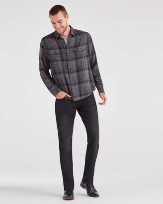 7 For All Mankind Airweft Denim The Straight in Black Tide