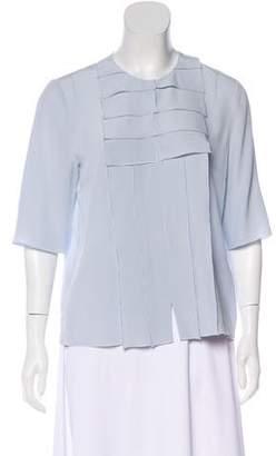 Salvatore Ferragamo Pleated Silk Blouse