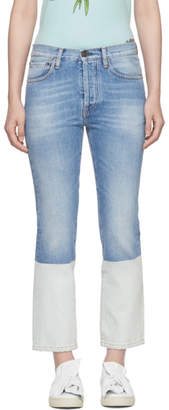 Ports 1961 Blue Contrast Bottom Jeans