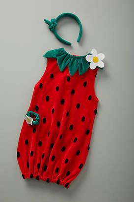 Anthropologie Strawberry Kids Costume