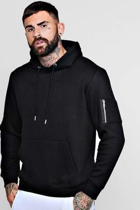 MA1 Pocket Detail Fleece Hoodie