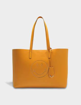 Anya Hindmarch Smiley Ebury Shopper Bag in Manuka Circus Leather