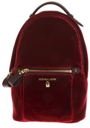 MICHAEL Michael Kors Maroon Velvet Backpack