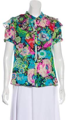 Peter Som Floral Silk Top