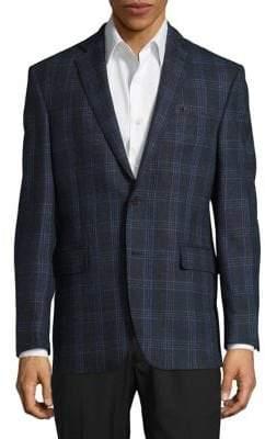 Black & Brown Black Brown Plaid Wool Sportcoat