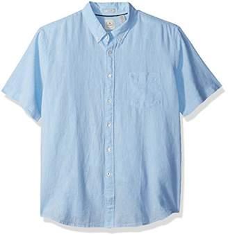 Dockers Short Sleeve Linen Button Front Woven Shirt