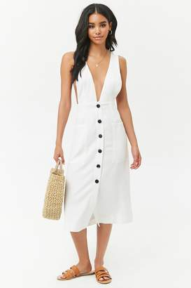 Forever 21 Button-Front Pinafore Dress