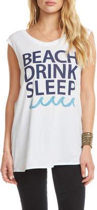 Chaser Drink Beach Sleep Cap Slv Tee