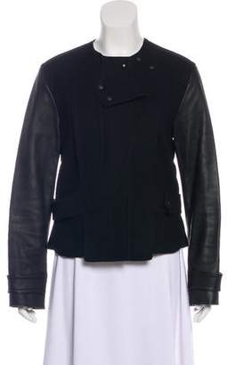 Alexander Wang Wool & Leather-Trimmed Jacket