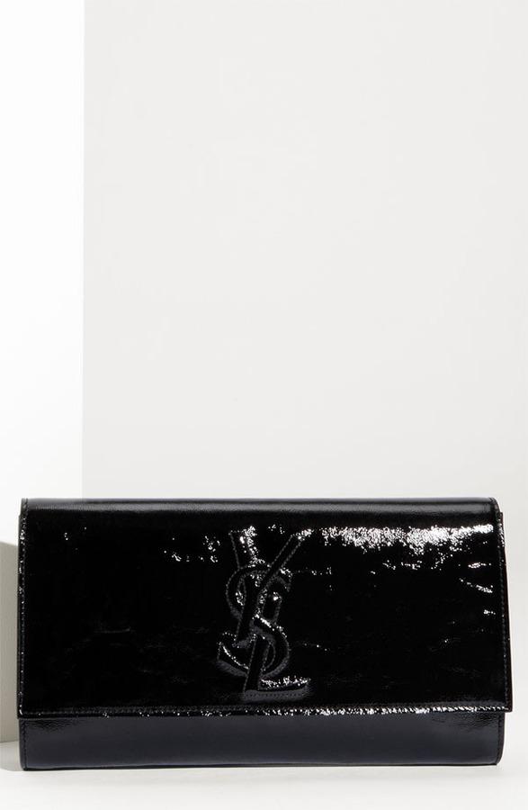 Yves Saint Laurent 'Belle de Jour - Large' Patent Envelope Clutch