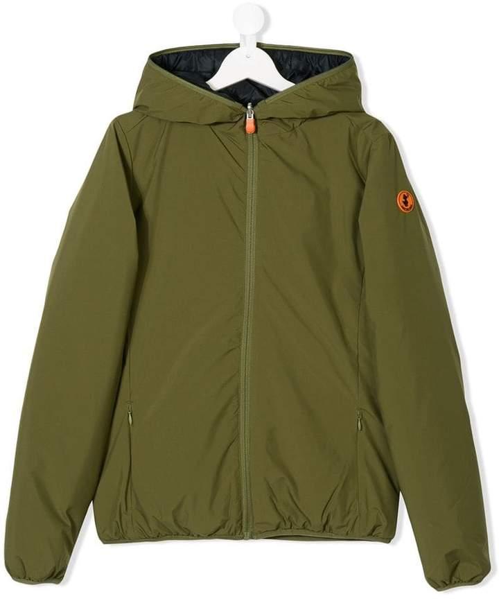 Save The Duck Kids Teen reversible hooded jacket