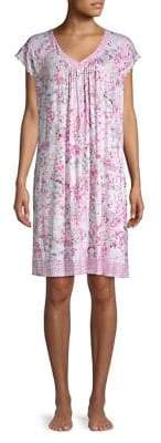 Miss Elaine Short-Sleeve Floral Night Gown