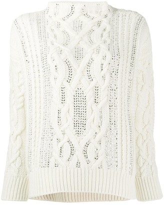Ermanno Scervino glass-embellished chunky sweater