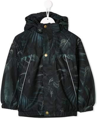 Molo leaf print hooded coat