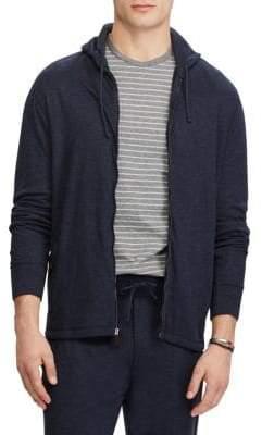 Ralph Lauren Duofold Jacquard Knit Front Zip Hoodie