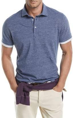 Brunello Cucinelli Contrast-Trim Polo Shirt