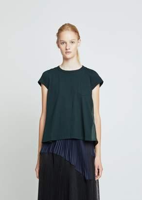 Sacai Cotton Pleated Back T-Shirt