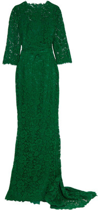 Dolce & Gabbana - Crystal-embellished Corded Lace Gown - IT38