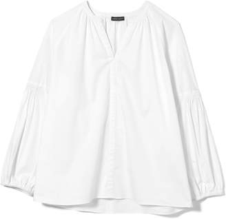 Vince Camuto Split-neck Bubble-sleeve Shirt