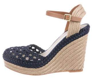 Tory Burch Jute-Trimmed Wedge Sandals