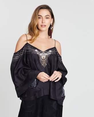 Camilla Off-Shoulder Flare Sleeve Top