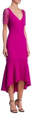 Theia Embellished Midi Dress