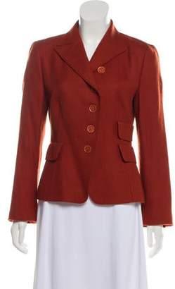 Akris Punto Peak-Lapel Wool Jacket