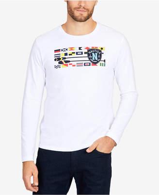 Nautica Men's Big & Tall Long-Sleeve Flags & Oars T-Shirt