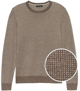 Banana Republic Italian Merino Birdseye Sweater