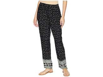 Vince Camuto Fan Geo Tie Waist Printed Pull-On Pants Women's Casual Pants