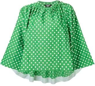 Calvin Klein polka dot pattern blouse