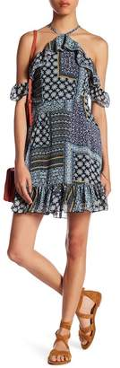 Romeo & Juliet Couture Patchwork Off-the-Shoulder Dress