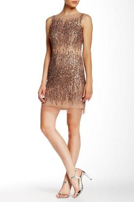 Adrianna Papell - Sequined Mesh Dress 41900940 $756 thestylecure.com