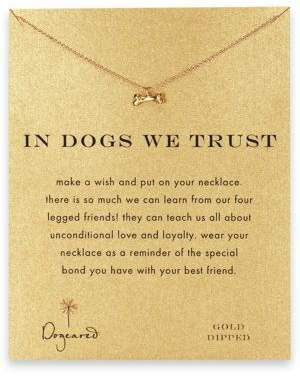 DOGEARED In Dogs We Trust Dog Bone Pendant Necklace $58 thestylecure.com