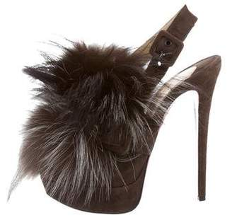 Christian Louboutin Fox Splash Fur Pumps