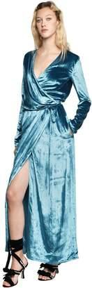 ATTICO Raquel Velvet Wrap Gown