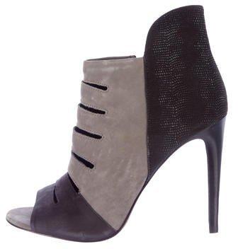 Rebecca MinkoffRebecca Minkoff Suede Peep-Toe Ankle Boots