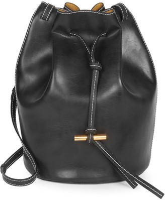 Stella McCartney Vegan Leather Medium Belted Bucket Bag