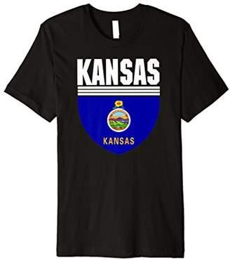 Kansas pride i love Kansas flag USA t-shirt