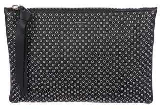 Michael Kors Large Grommet Leather Zip Pouch w/ Tags